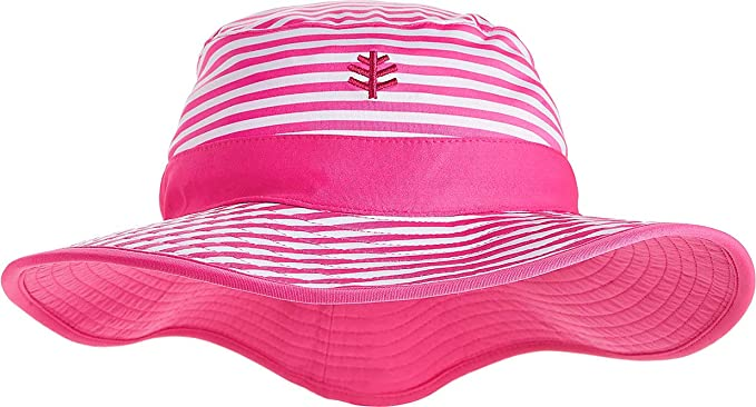 b09a7454 Amazon.com: Coolibar UPF 50+ Girls' Reversible Surf Bucket Hat - Sun  Protective: Clothing