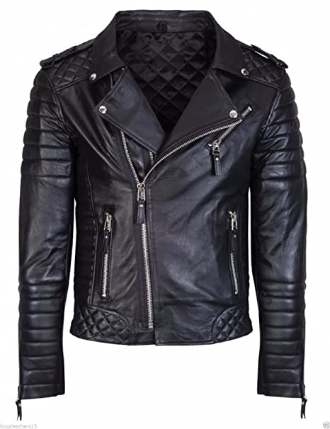 225baa6fe HugMe.fashion New Men Motorcycle Black Lambskin Leather Jacket Coat ...