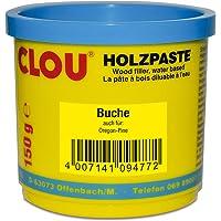 Clou Houtpasta voor het repareren en uitsnijden van houtschade beuken, 150 g: gebruiksklare pasta geschikt voor het hele…