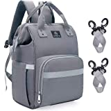 AMORNO Diaper Bag Backpack,Large Capacity Changing Bags Baby Care Nappy Bags with Changing pad for Mom & Dad, Waterproof and Durable Travel BackPack