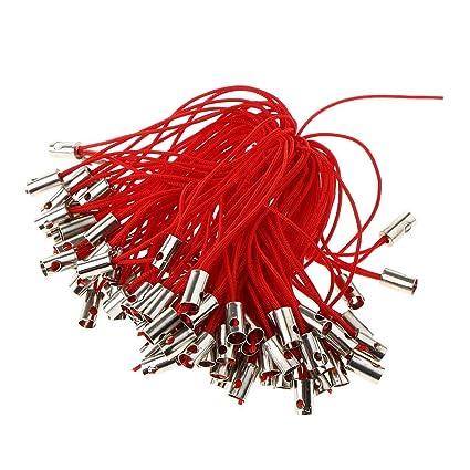 Amazon.com: NATFUR - 100 piezas de cordón para llavero ...