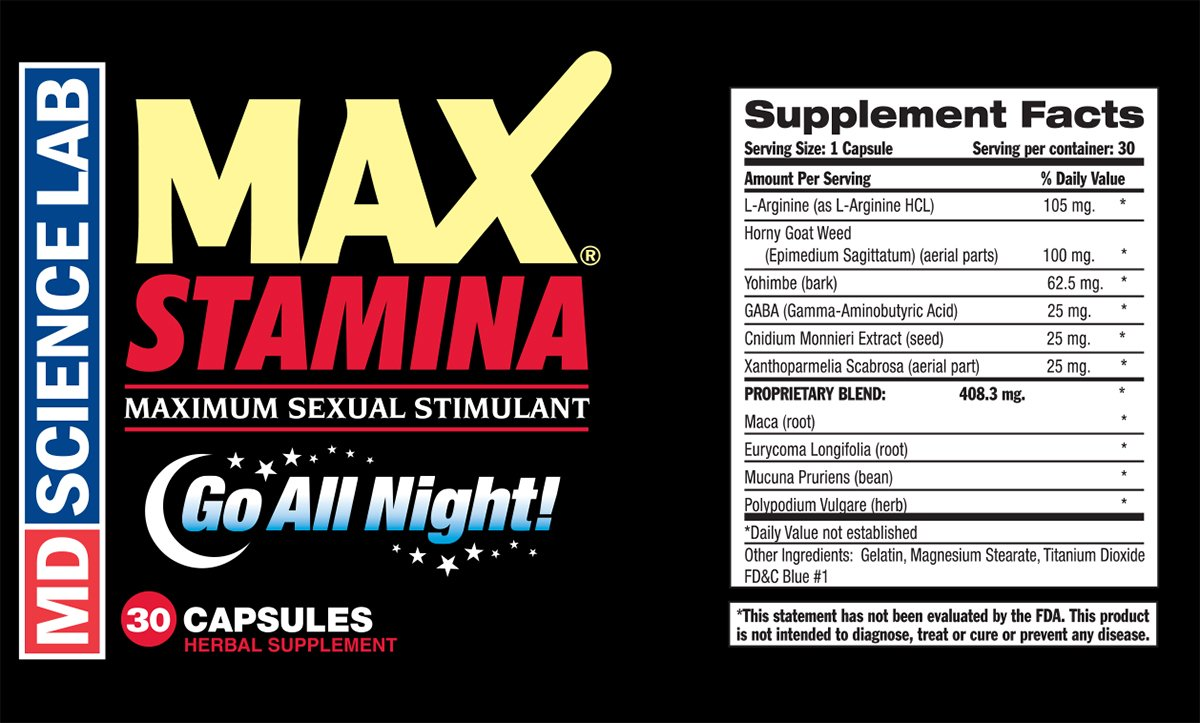MAX Stamina (30ct) by M.D. Science Lab