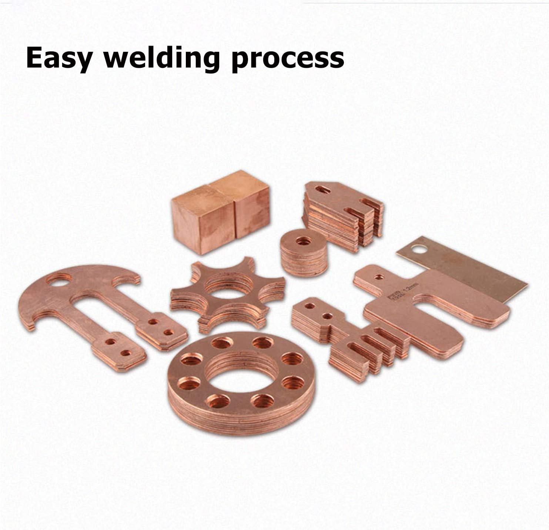 SQINAA 100mm x 100mm 10pc 99.9/% Pure Copper Foil Sheet Thin Cu Metal Foil Electrical Conductivity,0.01mm