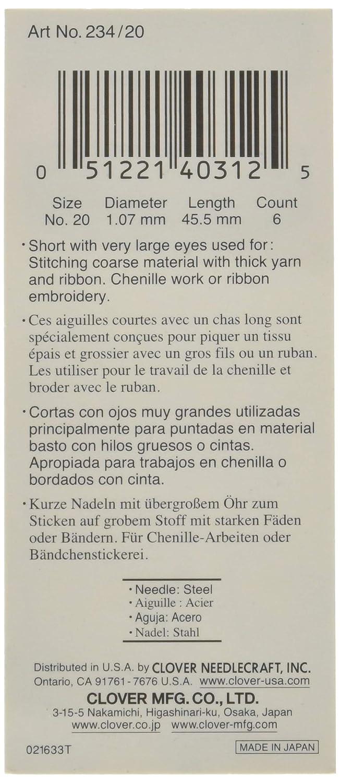 Clover Gold Eye Chenille Needles No 18