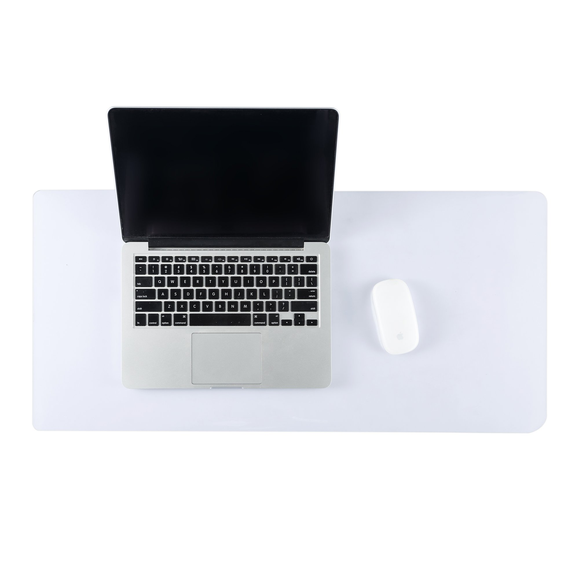 ETECHMART Clear Thick 14 x 30 Inches PVC Office Desk Pad Writing Mat