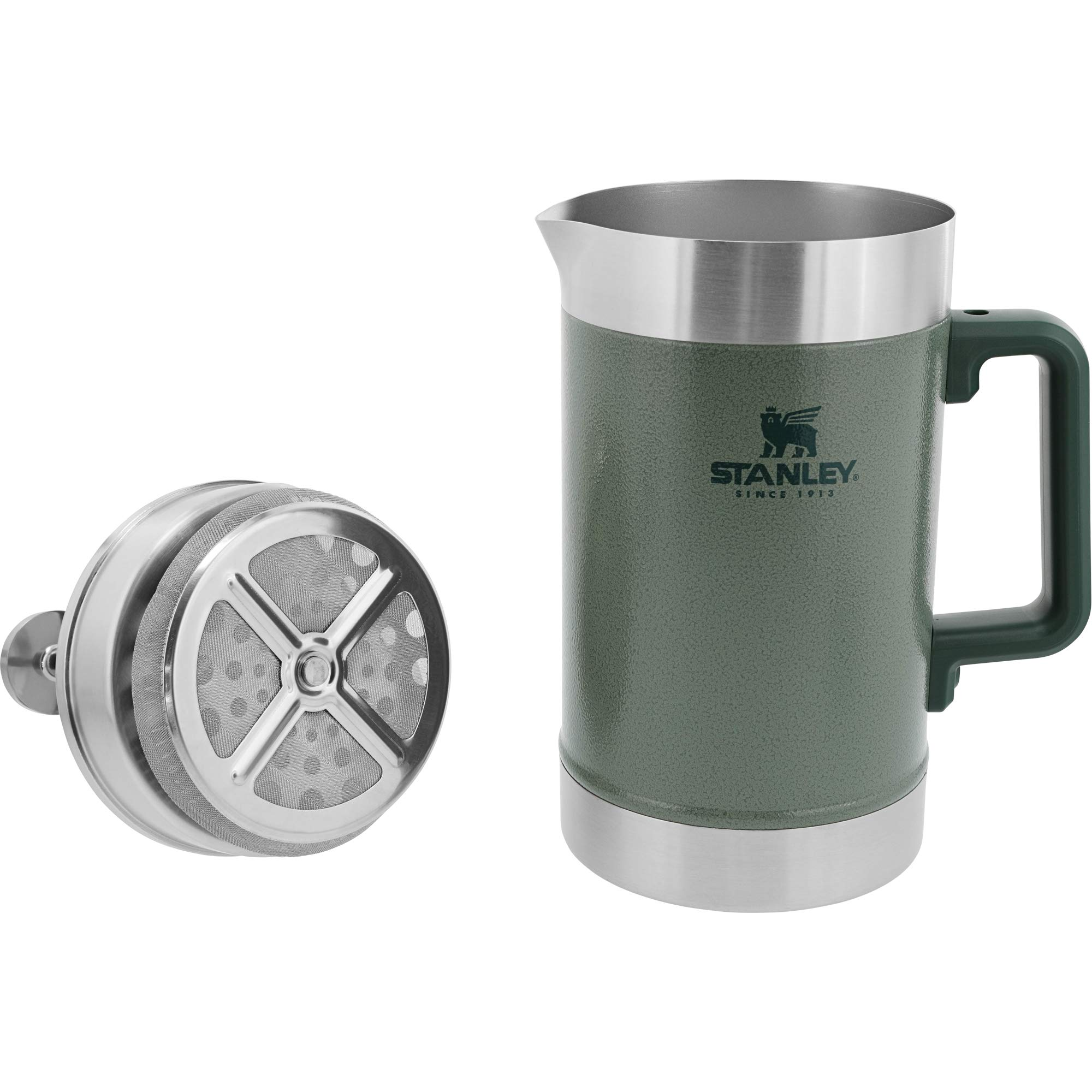 Stanley Classic Stay Hot French Press Hammertone Green 48oz by Stanley (Image #2)