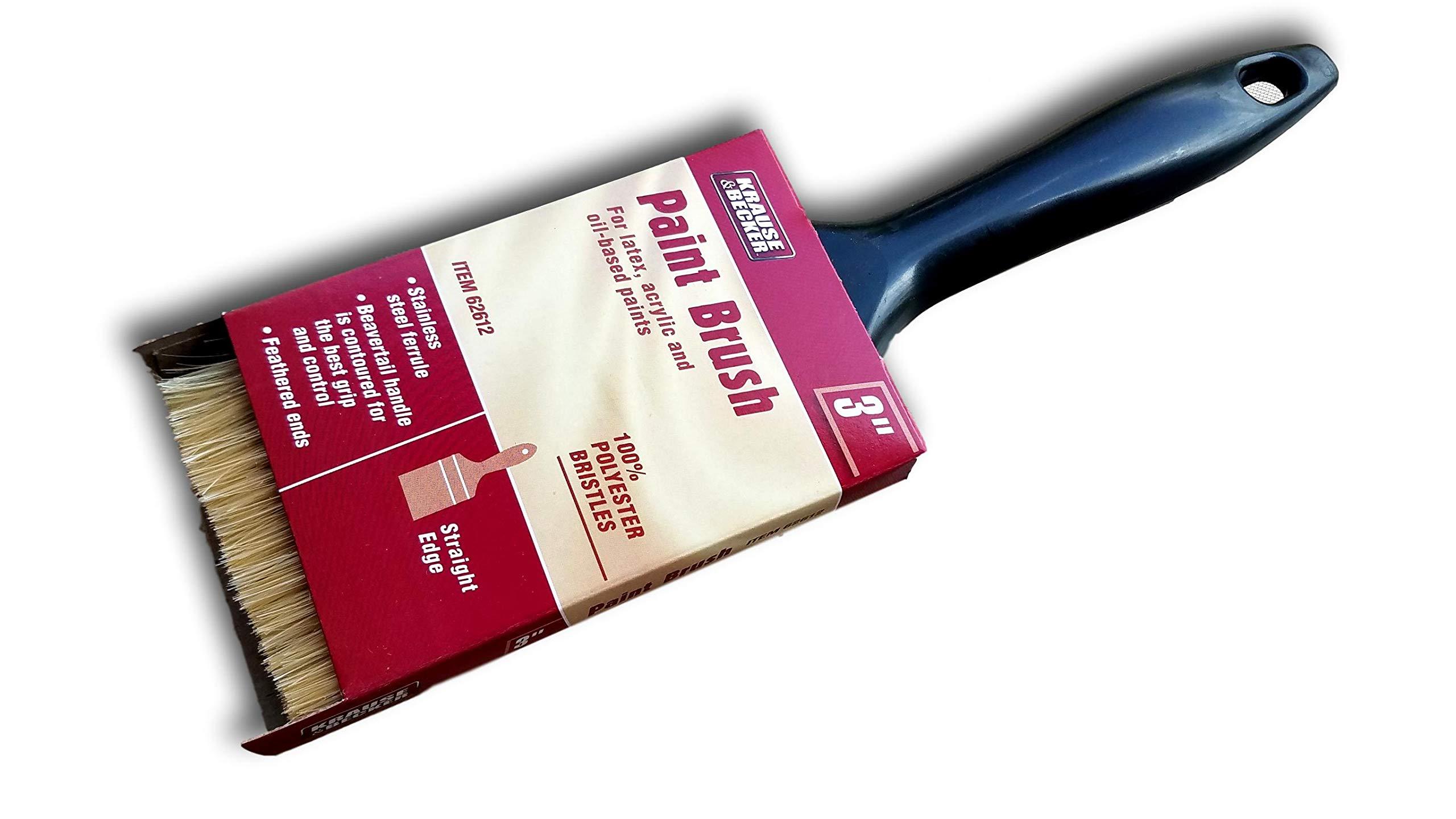 Bulk 12 Pc of 3'' Synthetic Professional Paint Brush