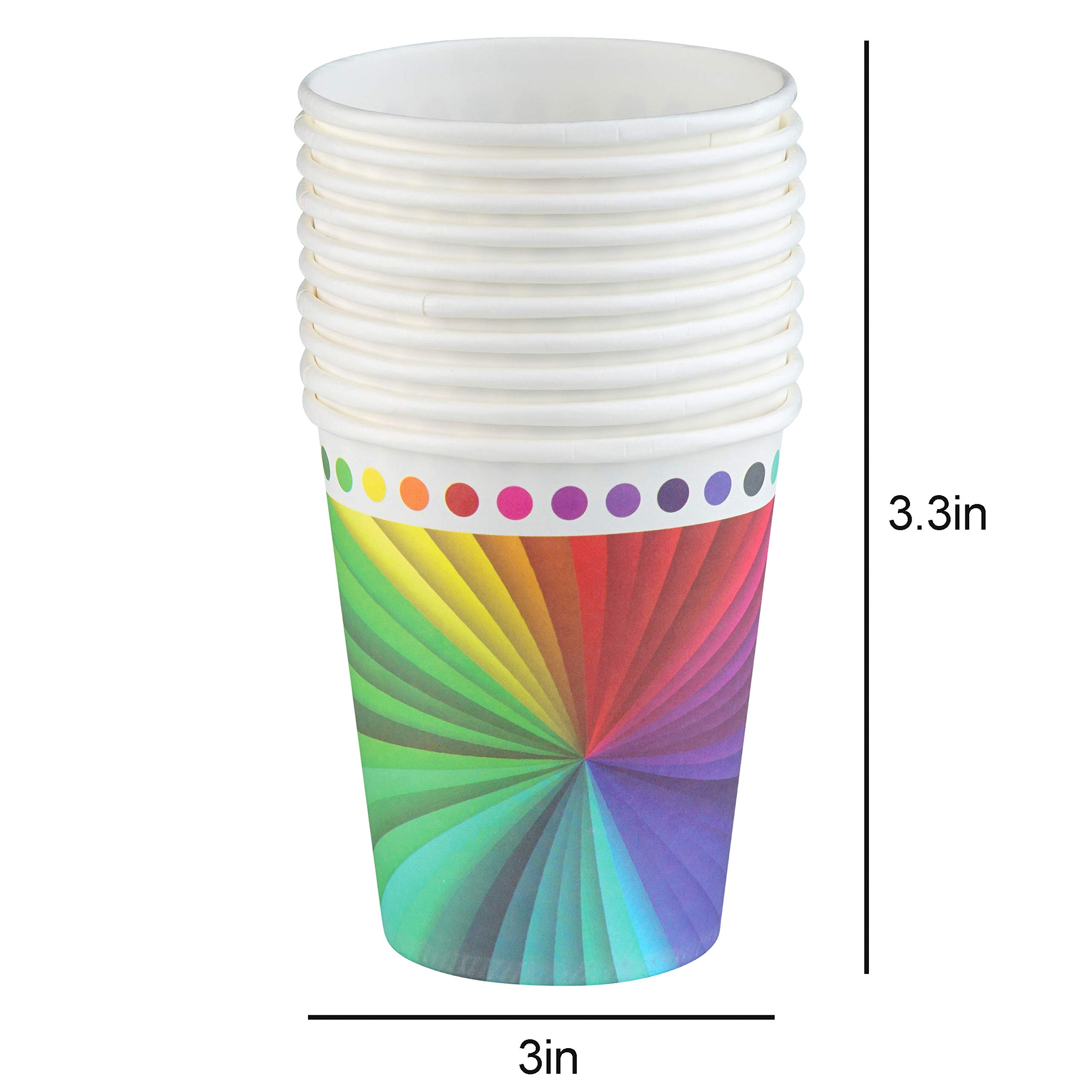 82 Piece Rainbow Party Set Including Banner, Plates, Cups, Napkins and Tablecloth, Serves 20 by Scale Rank (Image #4)