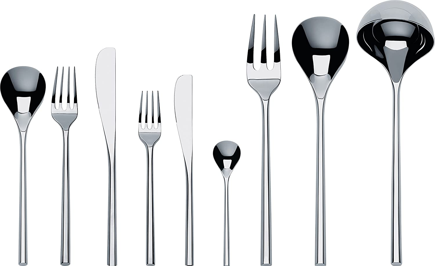 Amazon Com Alessi Ti04s75 Mu Flatware Set Of Twelve Table Spoons