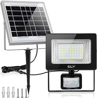 Foco Led Solar Exterior Sensor Movimiento, Foco Solar Exterior, lluminacion Exterior Solar,60 LED 6500K IP66 Impermeable Luz Solar Exterior,Lampara Solar, lluminación de Seguridad para Patios Terrazas: Amazon.es: Iluminación
