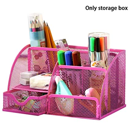 Groovy Office Supplies Desk Organizer Multi Functional 7 Compartments Combination Mesh Desk Organizer Space Saving Caddy With Drawer For Pen Holder Home Interior And Landscaping Sapresignezvosmurscom