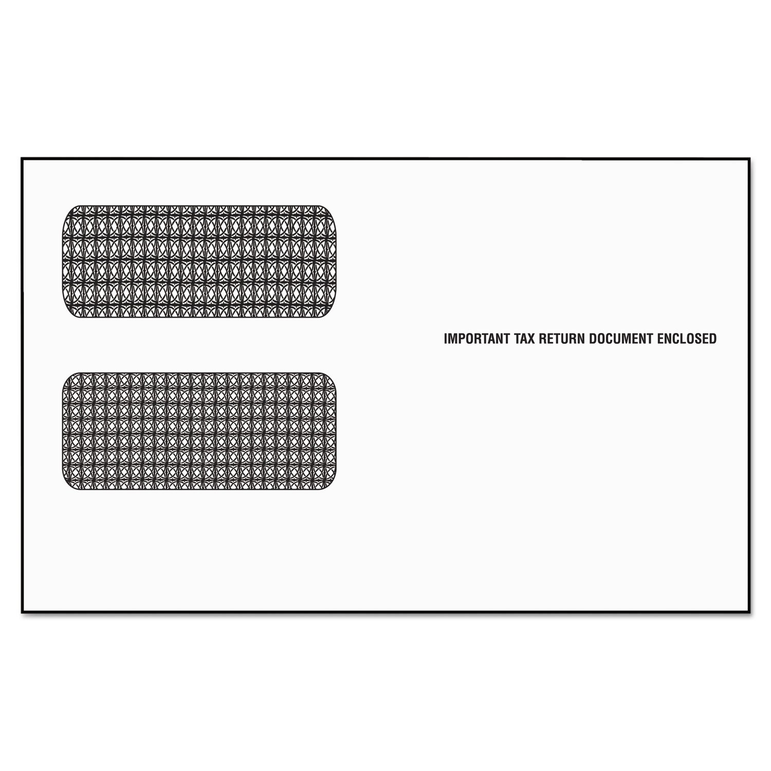 TOPS 2222ES Double Window Tax Form Envelope/1099R/Misc Forms, Self-Seal, 9 x 5 5/8 (Pack of 24)
