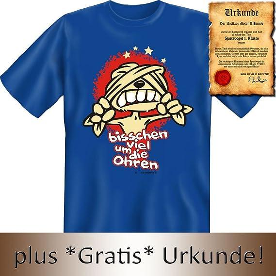 Witziges T-Shirt: bisschen viel um die Ohren... - Mit Urkunde 'Spassvogel 1. Klasse': Amazon.de: Bekleidung