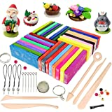 Polymer Clay, 32 Blocks Colored Oven Bake Modelling Clay, iFergoo DIY Colored Clay Kit with Modeling Tools, Tutorials and Accessories, 1.73lb