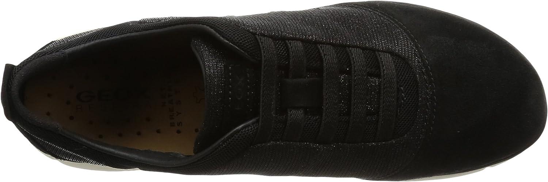 Geox D Nebula G, Baskets Basses Femme Noir Black