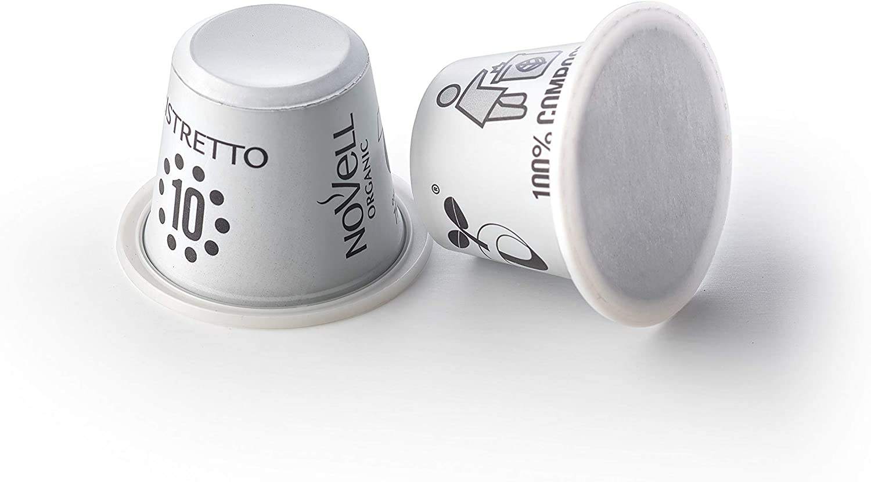 Cápsulas Compostables con café Ecológico - Ristretto - 10u: Amazon ...