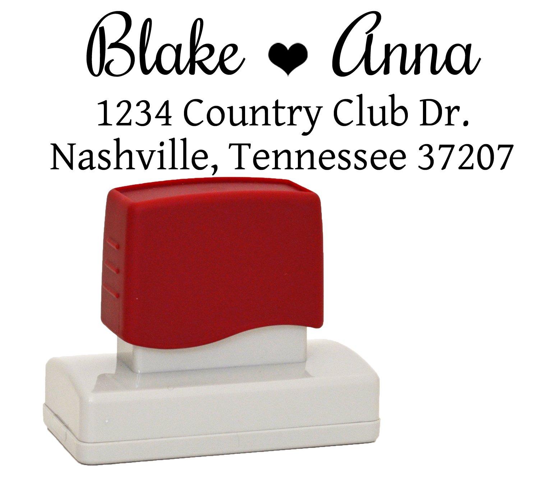 Amazon.com : Romantic Custom Self inking Rubber Stamp, Wedding Stamp ...
