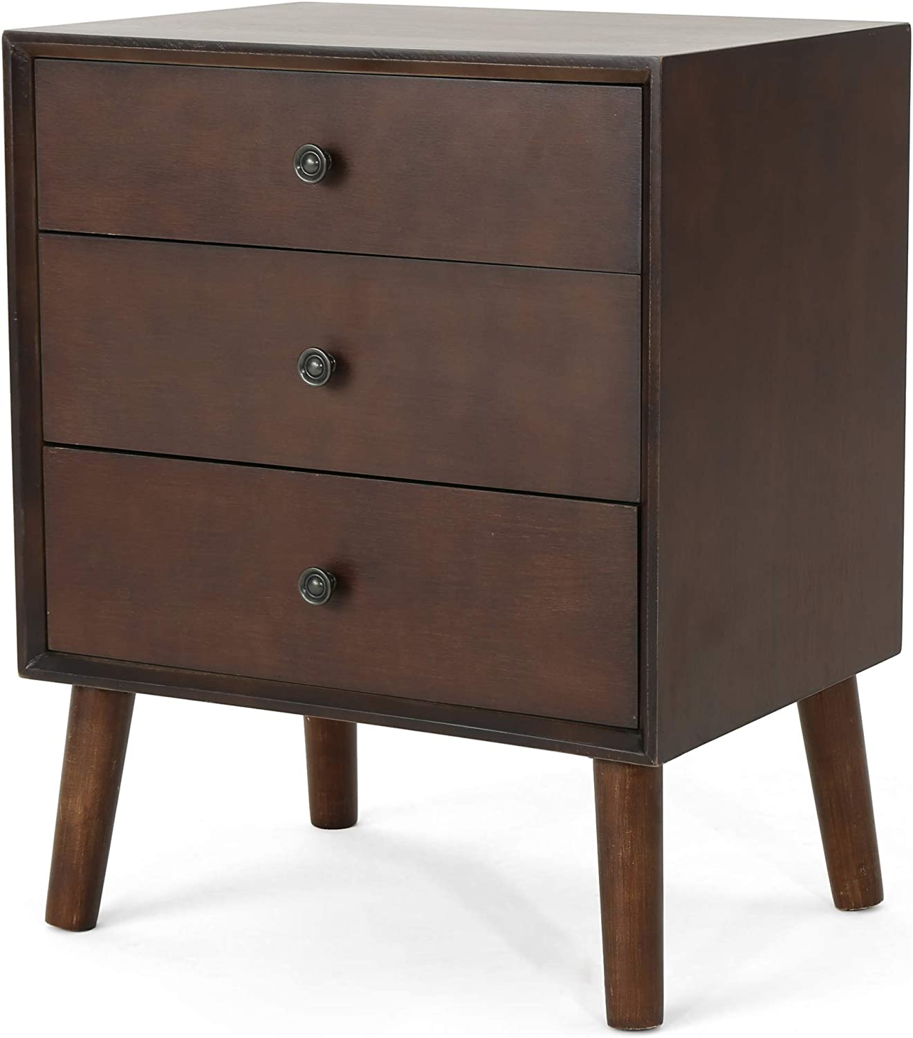 Christopher Knight Home Moriah Mid-Century Faux Wood Cabinet, Walnut