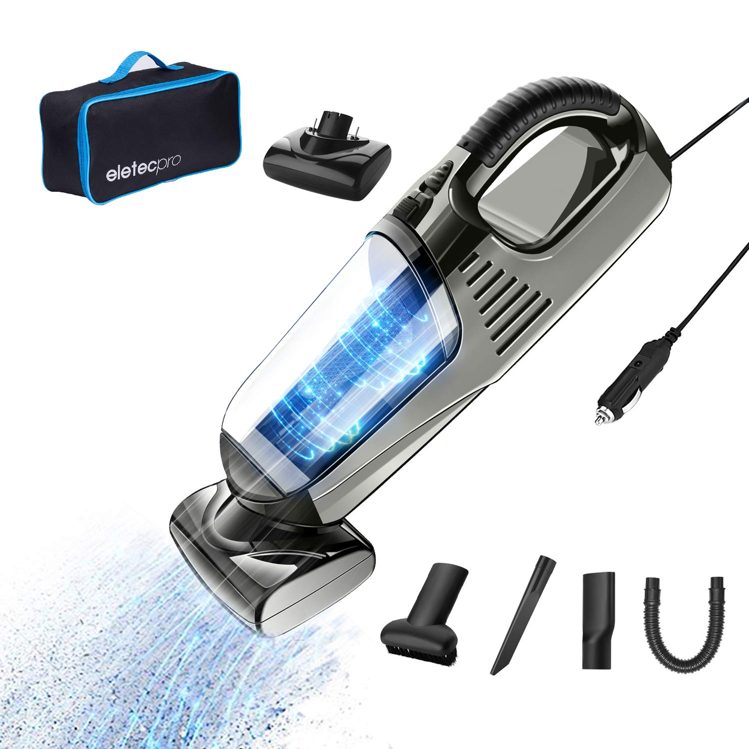 Car Vacuum Cleaner >> Details About Handheld Car Vacuum Cleaner Corded Dc 12 V 90 W High Power With 4000 Suction New