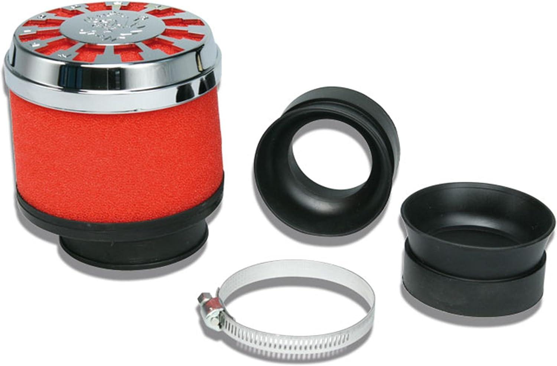 Malossi Rennluftfilter Red Filter Anschluss 42 50mm Filter Rot Kappe Chrom Auto