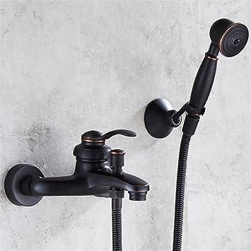 Bijjaladeva Wasserhahn Bad Wasserfall Mischbatterie Waschbecken Slim  Badewanne Wasserhahn Garten Voll Der Antike Kupfer Heiß Und
