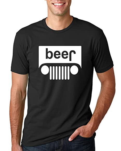 f8fd4972a Beer Logo |White Design | Jeep Parody Humor Alcohol | Mens Drinking Tee  Graphic T