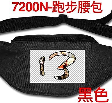 Taylor 13 Moda Cintura Packs Running Cintura Bolsas Grande Fanny Pack Slip Algodón Durable Bolsa, Negro (Negro) - Black-48: Amazon.es: Equipaje