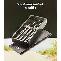 Rösle 43471 Steakmesser Sansibar, Kunststoff, schwarz, 23.4 x 1.4 x 2.3 cm, 4 Einheiten