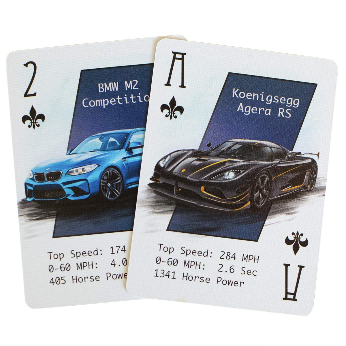 Unique Deck of Cards Casino Grade Paper Cool Custom Cards for The Car Enthusiast ARTISTICPX Performance Car Playing Cards VII