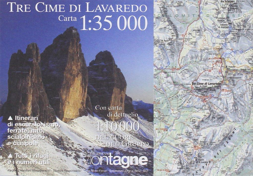 Cartina 3 Cime Di Lavaredo.Amazon It Tre Cime Di Lavaredo Con Cartina Editoriale Domus Libri