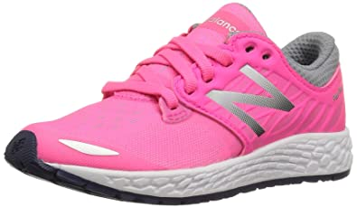 e196957fc4ffa New Balance Girls' KJZNT Running Shoe, Pink/Grey, 4 Medium US Little