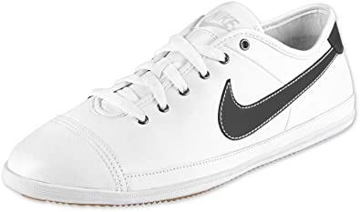 NIKE Flash Leather Mens Trainers White 441396 105, Size 45  Amazon ... 6683e462ac