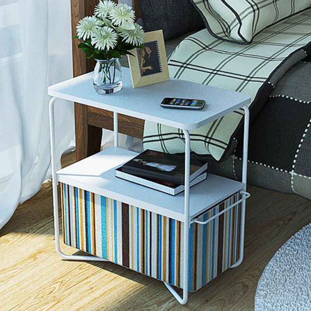 T12 CJC Desk Side End Table 2 Tier 3 Tier Round Square Storage Basket Nightstand Espresso Bedrooms Living Room (color   T6)