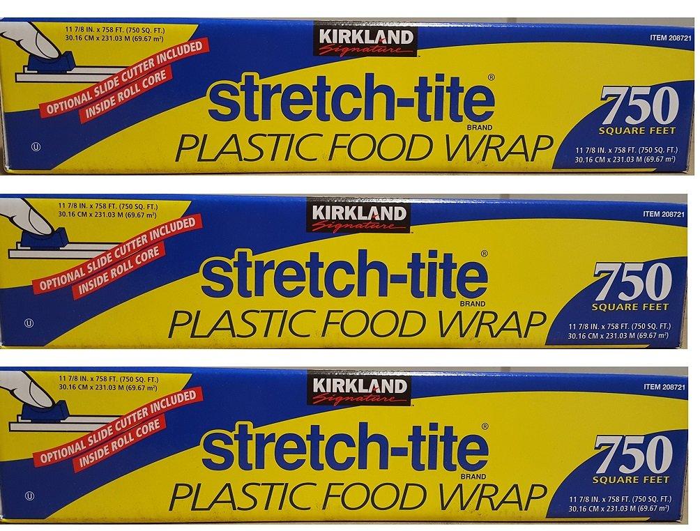 Kirkland Signature Stretch Tite Plastic Food Wrap uZzDke, 3 Packs (750 Sq ft Food Wrap) by Kirkland Signature