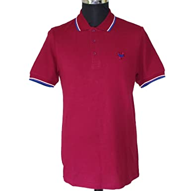 Warrior - Polo - para hombre Rojo granate Medium: Amazon.es: Ropa ...