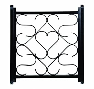 "Camco Adjustable Screen Door Deluxe Grille - Protects RV Door Screen and Prevents Damage, Adjusts From 20"" - 32"", Installation Hardware Included - Black (43993)"