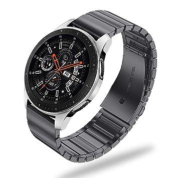 Fintie Correa para Samsung Galaxy Watch 46mm / Gear S3 Classic/Gear S3 Frontier - 22mm Pulsera de Repuesto de Acero Inoxidable de Liberación Rápida, ...