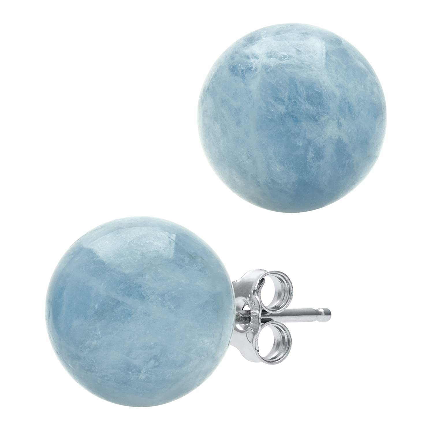 genuine earrings pin gold gift ideas aquamarine white