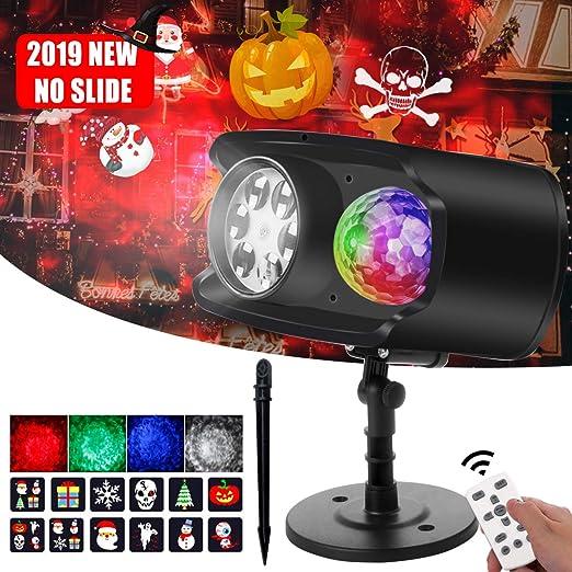Bawoo - Lámpara proyector LED de color para Halloween (exterior ...