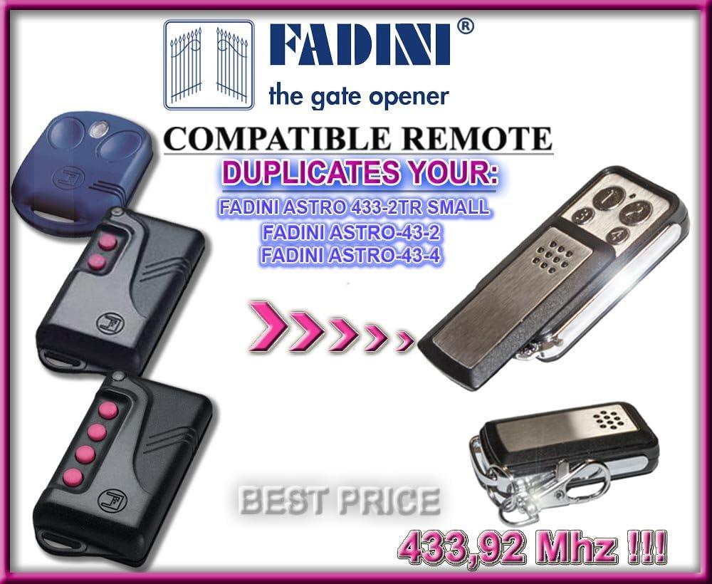 à 2 croquer 4 Télécommandes 4 canaux pour FADINI ASTRO 433-4