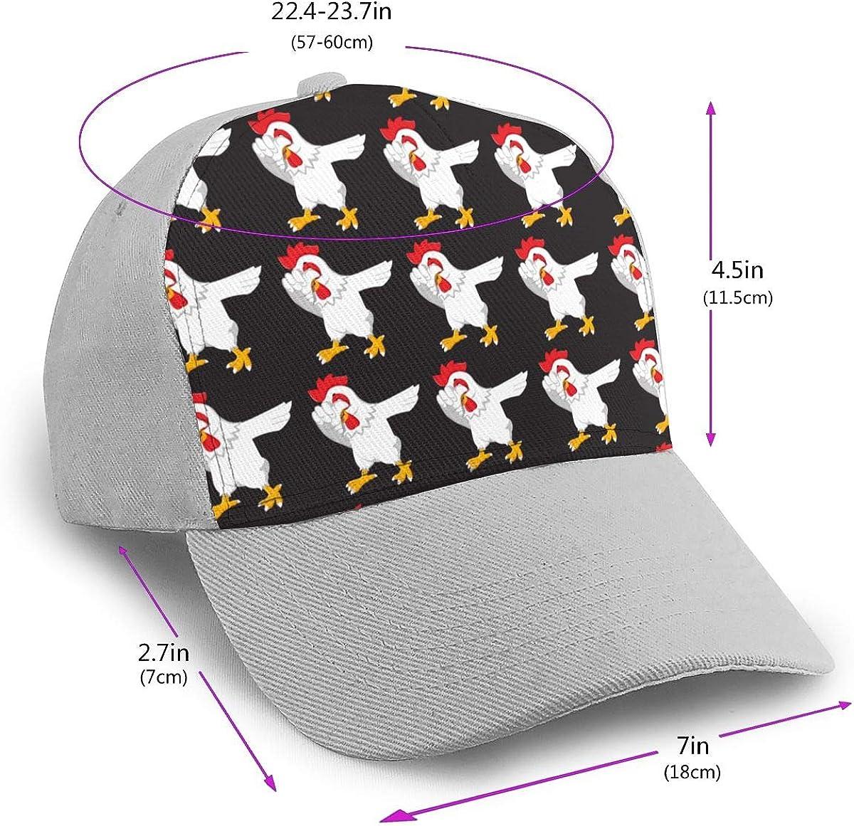 Classic Comfortable Dabbing Chicken Funny Adjustable Baseball Cap