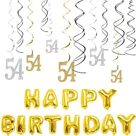 MAGJUCHE - Kit de adornos para cumpleaños número 54 con ...
