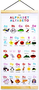 LOVE|EVERYDAY Alphabet Chart & ABC Poster. Bilingual Spanish English Alphabet Poster for Classroom & Nursery Décor. Perfect Homeschool Decorations. Abecedario para Pared