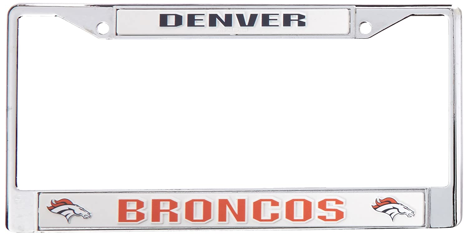 Rico Denver Broncos Chrome License Plate Frame
