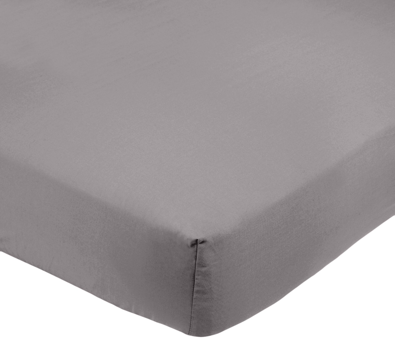 AmazonBasics FTD, Sábanas Ajustables, 150 x 200 x 30 cm, Gris Oscuro product
