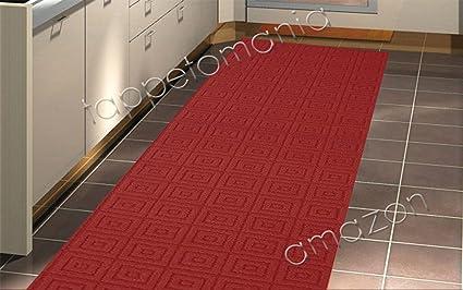 Tappeto cucina BORDEAUX , tappeto bagno antiscivolo lavabile in ...