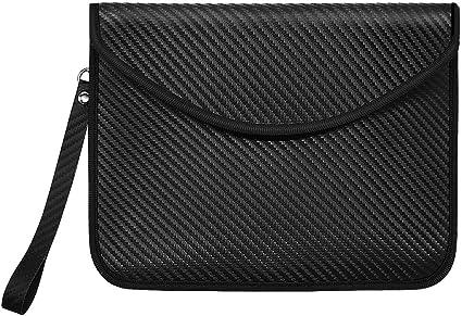 Carbon Fiber Texture A RFID Signal Blocking Anti-Hacking Case Blocker SHOWING bag for car keys 2 Pack car key safe bag,Faraday Cage Car Key Protector Anti-Theft Pouch