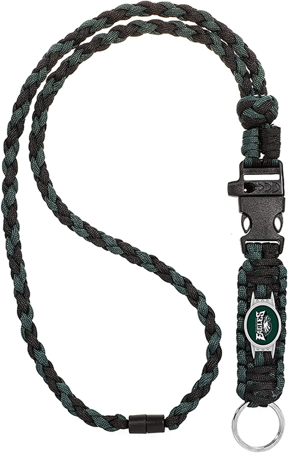 Swamp Fox Philadelphia Eagles Paracord Keychain with Caribiner 6 inches