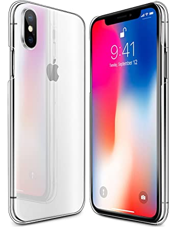 IPhone X Case Clear Scratch Resistant Shock Absorption Hard Back Panel