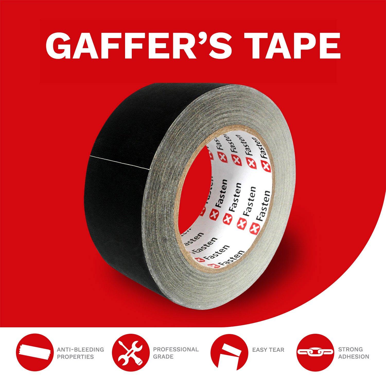 Professional Grade Power Gaffer Cloth Tape 2 Inch X 30 Yards Black Residue Free
